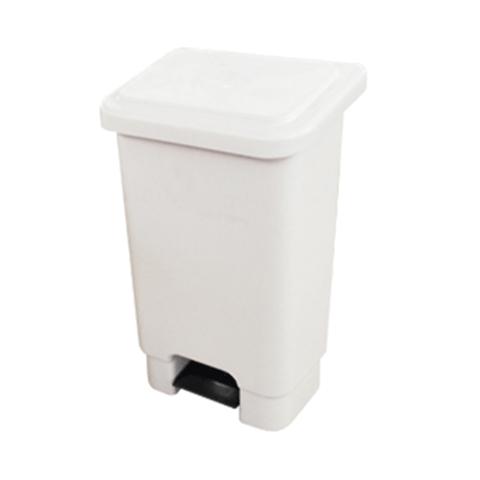 Lixeira retangular com pedal 25 litros - Branca