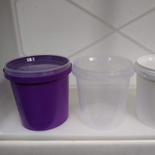Pote plástico branco ou transparente com tampa 1 Litro - Embalagem 100 Unidades