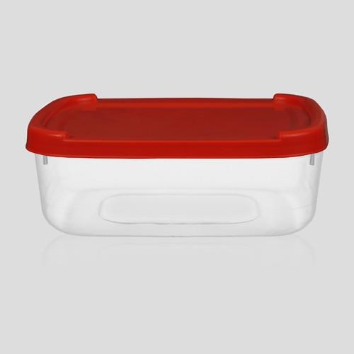 Pote plástico de sorvete com tampa 1 litro - Caixa com 100 unidades