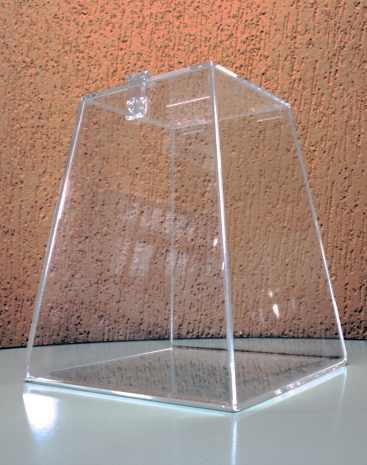 Urna acrílica cristal 30cm de altura