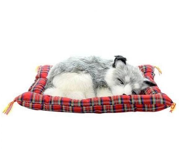 Animais para decoração dormindo 20cm Alaskan Husky MP0305