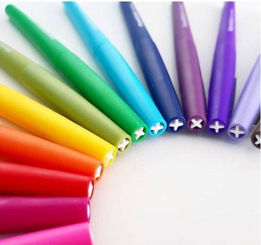 Caneta hidrográfica 12 cores média Flair 1833947 Paper Mate BT 12 UN