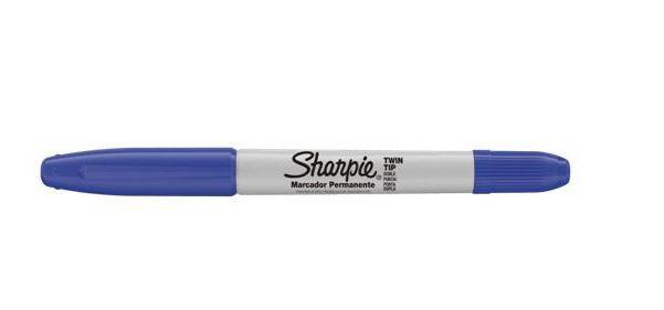 Caneta Permanente Sharpie Twin Tip Azul
