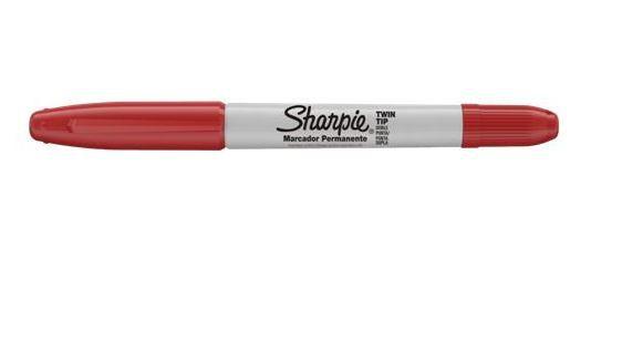 Caneta Permanente Sharpie Twin Tip Vermelho 1805636