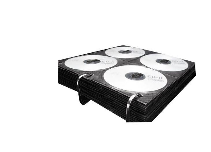 Envelope Plástico para fichário porta cd's com 25 unidades