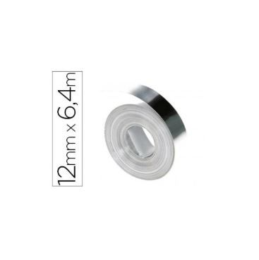FITA AÇO INOX SEM-ADESIVO P/ ROT. DYMO MANUAL INDL (13mm x 6,5mts)