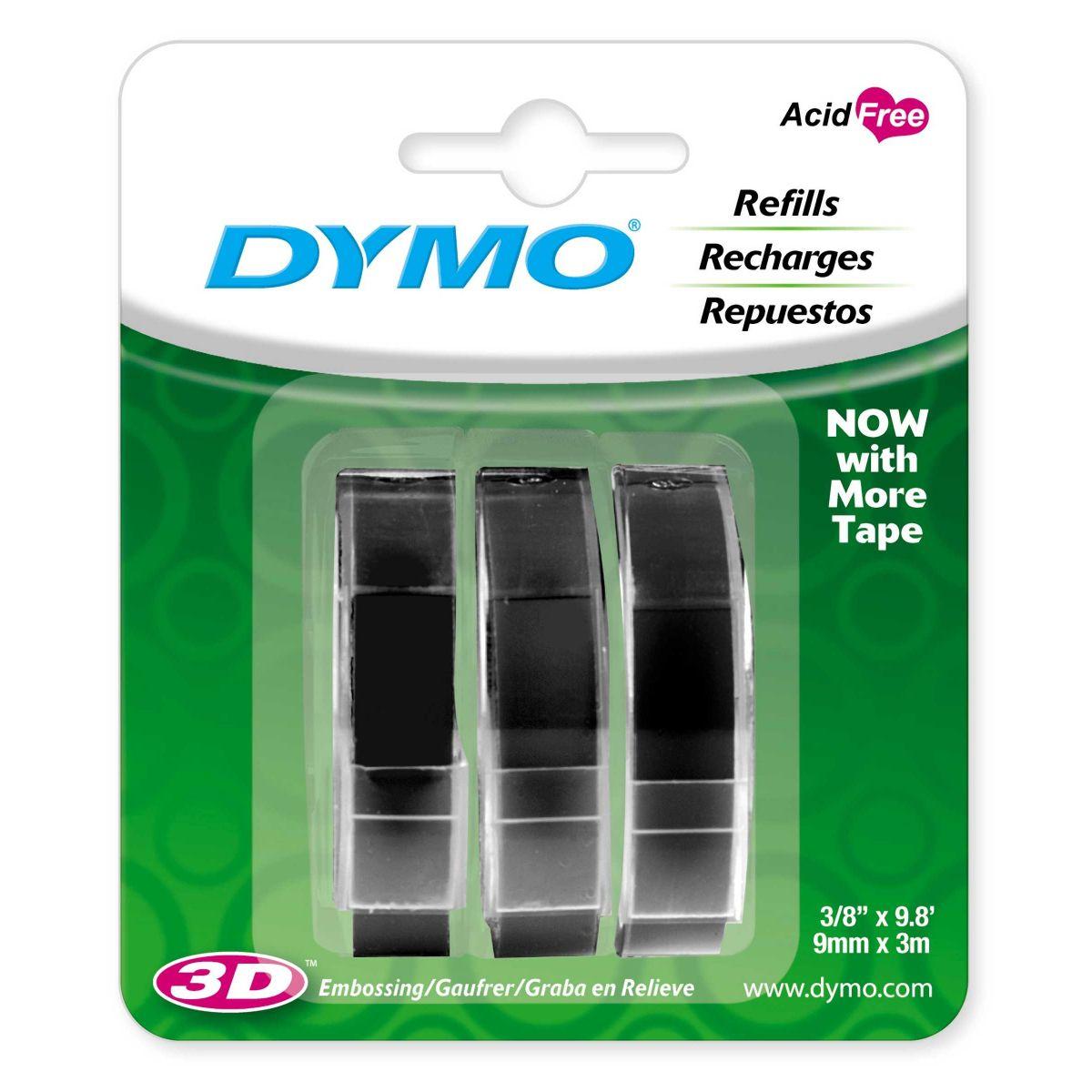 Fita para Rotuladora Dymo Manual Organizer Preta