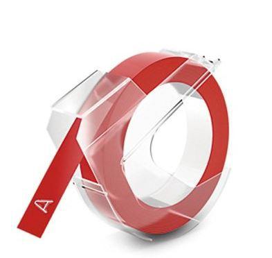 Fita Para Rotulador  Manual Vinilica Vermelho 9mm