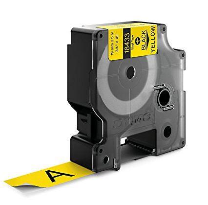 Fita Vinilica / PVC adesiva para Rotulador RhinoPro/3M (19mm x 5,5m) PT/AM