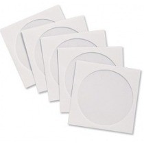 1000  ENVELOPE BRANCO P CD/DVD COM VISOR TRANSP.