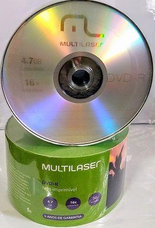 100  DVD-R MULTILASER 16X LOGO