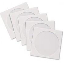100  ENVELOPE BRANCO P CD/DVD COM VISOR TRANSP.