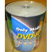 100 DVD-R PRINTABLE 16X ONLYMIDIA ( MADE TAIWAN)