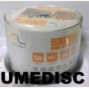 50 DUAL LAYER MULTILASER PRINTABLE  UMEDISC 8.5GB
