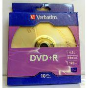 50 DVD+R VERBATIM 16X COM LOGO 4.7GB