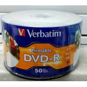 50 DVD-R VERBATIM 16X  PRINTABLE