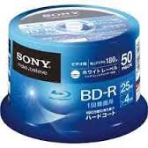 50 BLURAY SONY PRINTABLE ORIGINAL 25GB