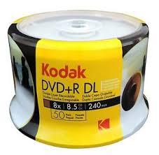 50 DUAL LAYER KODAK  PRINTABLE UMEDISC 8.5GB