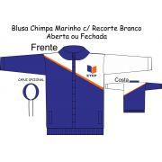 Blusa Chimpa Marinho C/ Recorte Branco ETEP