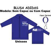 Blusa Helanca Gaucha Adidas Aberta Univap 6 ao Técnico