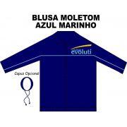 Blusa Moletom Azul Marinho Evoluti