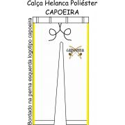 Calça Helanca Poliéster branca Capoeira Prosperi