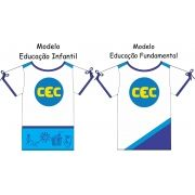 Camiseta Manga Curta Feminina CEC  Malha 100% Algodão