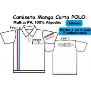 Camiseta Manga Curta Polo Branca Univap 1/5