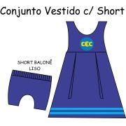 Conjunto Vestido Sem Manga C/ Short Balonê CEC