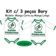 Kit 3 peças Bory Suedine Bebê Pindorama