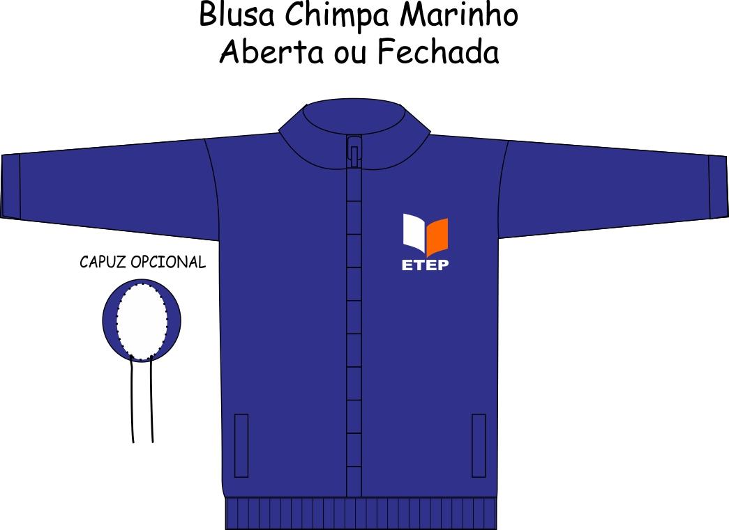Blusa Chimpa Marinho S/ Recortes ETEP