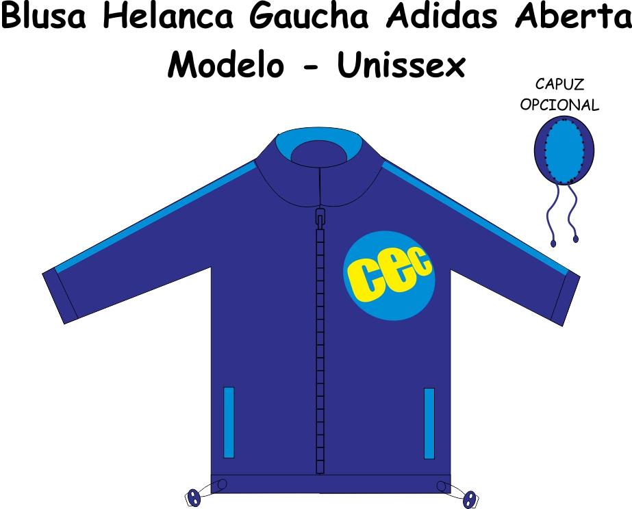 Blusa Helanca Gaucha Adidas Aberta CEC