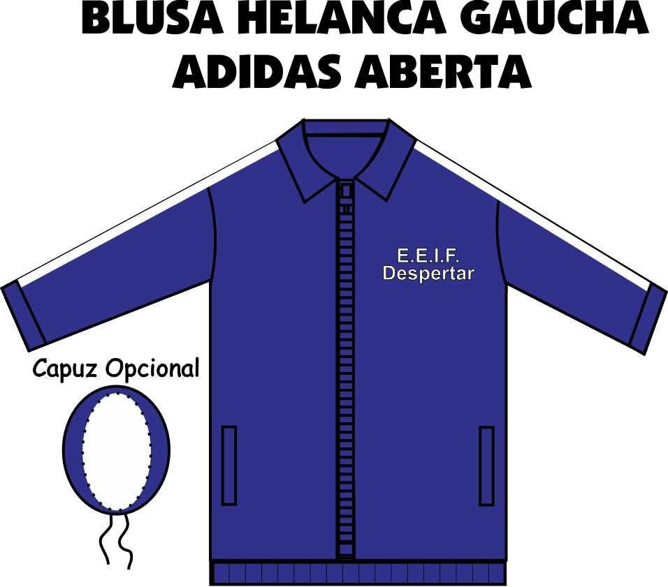 Blusa Helanca Gaucha Adidas Aberta Despertar