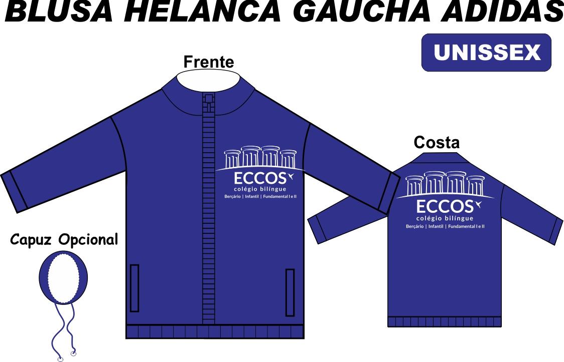 Blusa Helanca Gaucha Adidas Aberta Eccos
