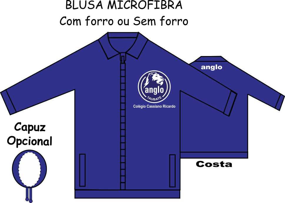 Blusa Microfibra Anglo Taubaté