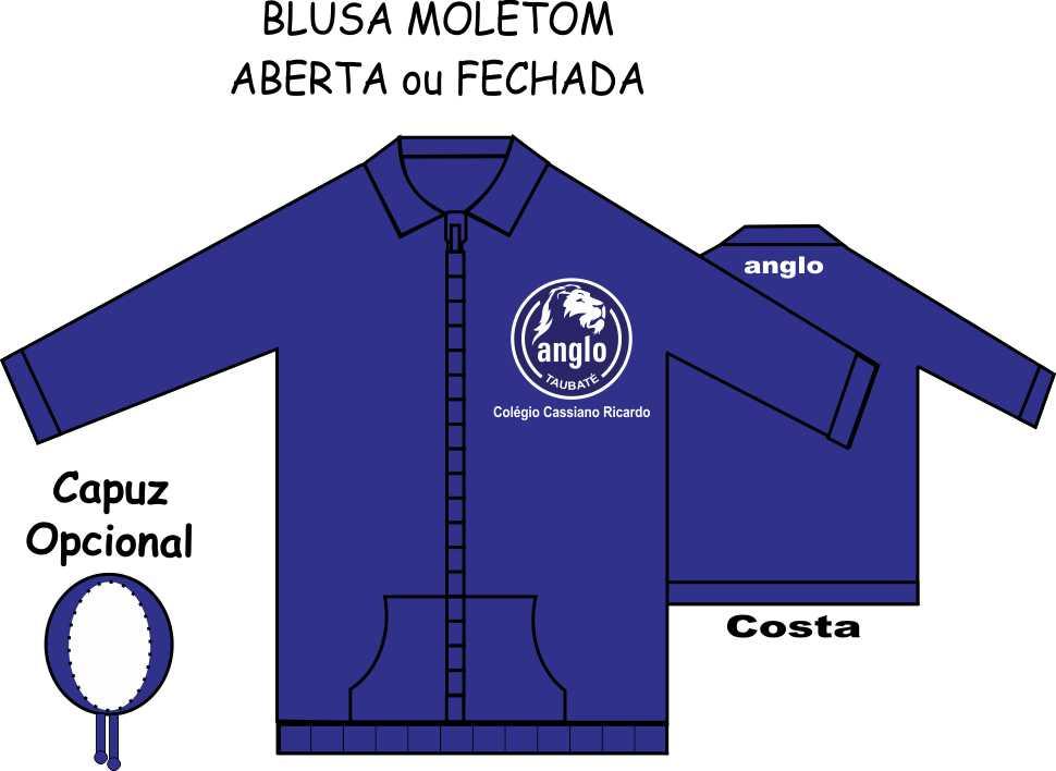 Blusa Moletom Anglo Taubaté