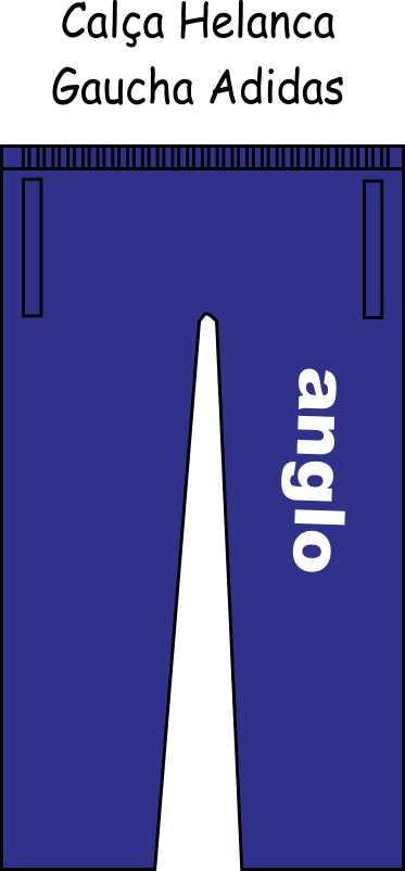 Calça Helanca Gaucha Adidas Anglo Taubaté