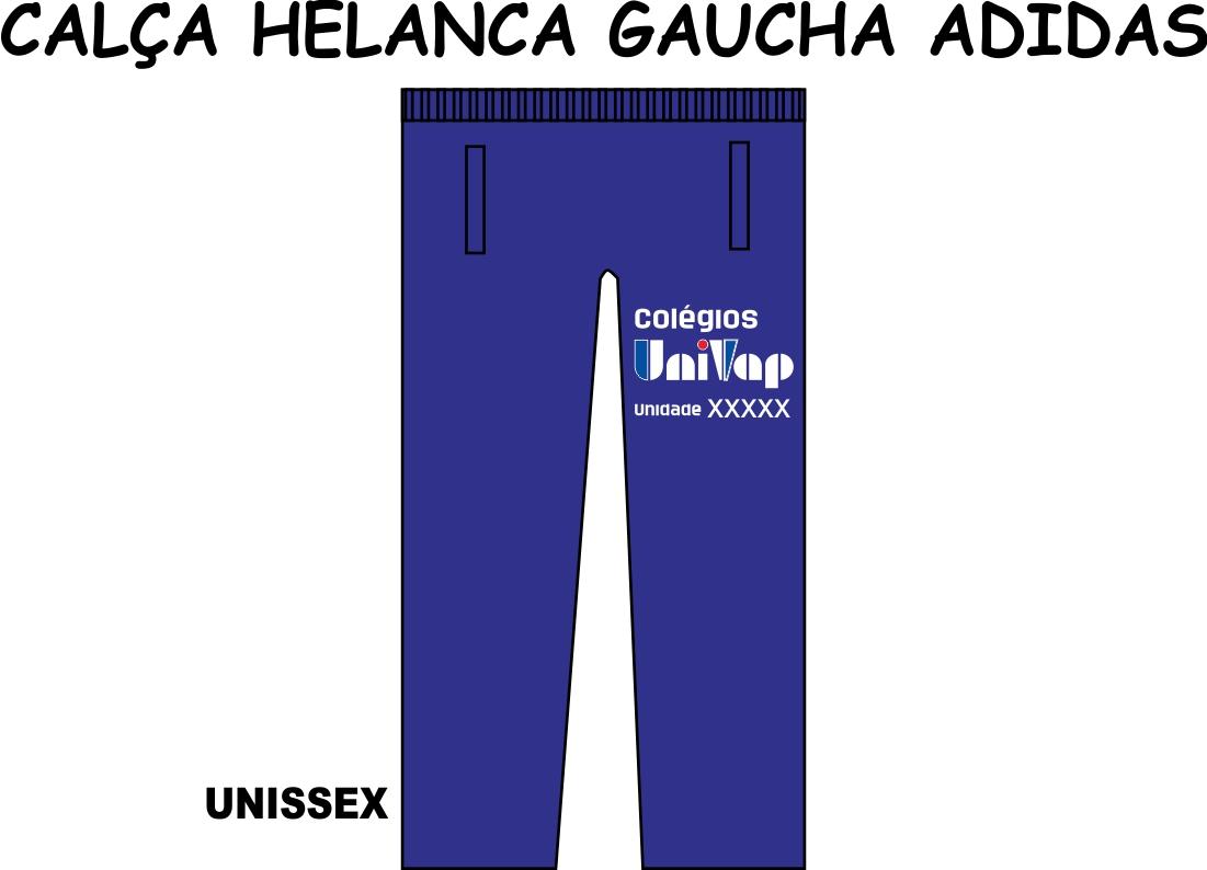 Calça Helanca Gaucha Adidas Univap 6 ao Técnico