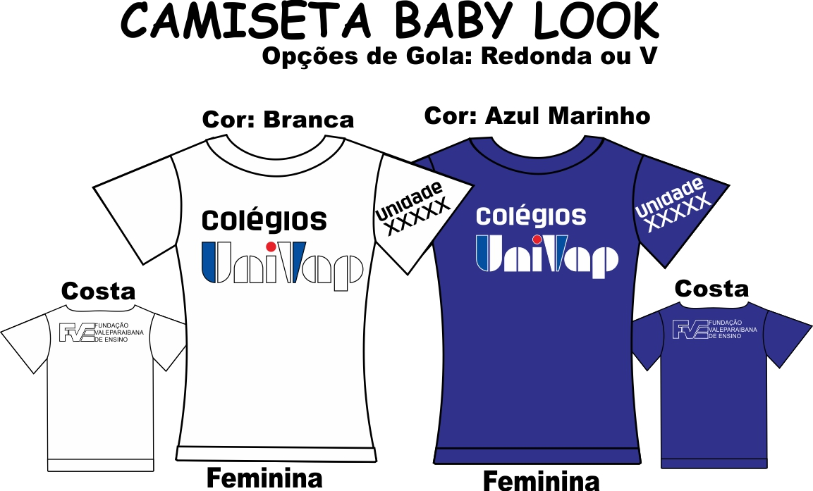 Camiseta Baby Look Univap 6 ao Técnico