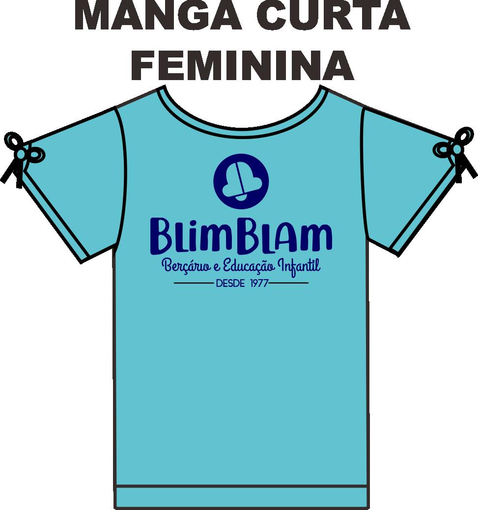 Camiseta Manga Curta Feminina Blim Blam