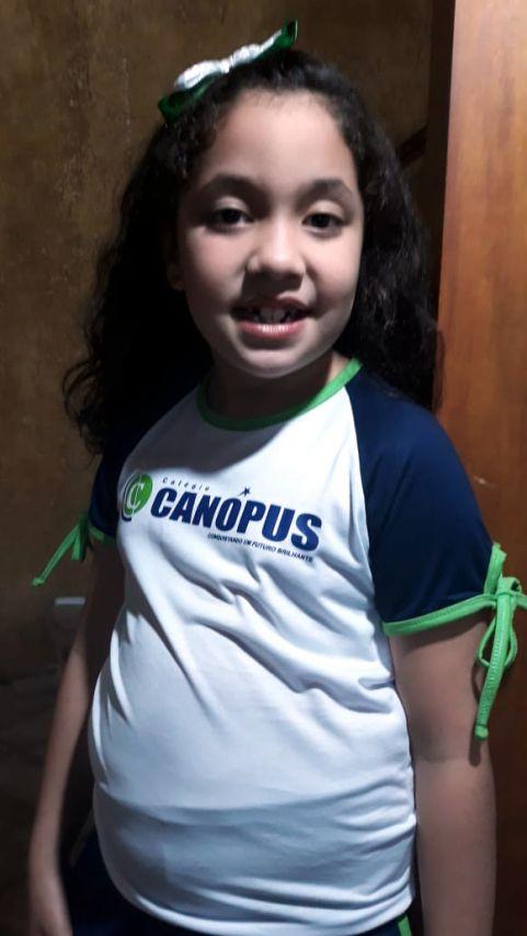 Camiseta Manga Curta Feminina Canópus (Berçário até Ed. Infantil)