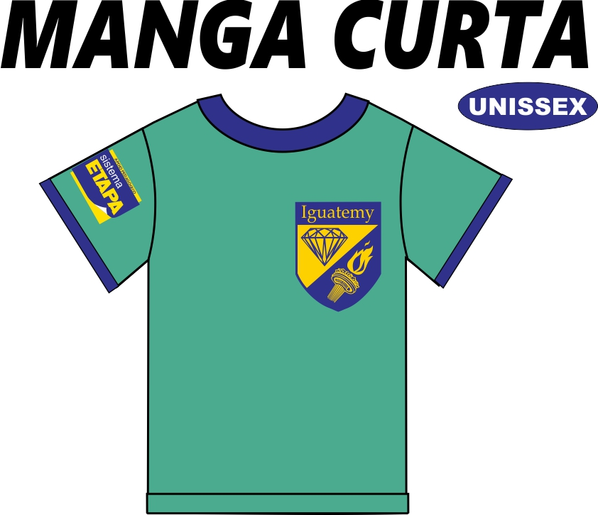 Camiseta Manga Curta Iguatemy Ed. Infantil ao Fundamental