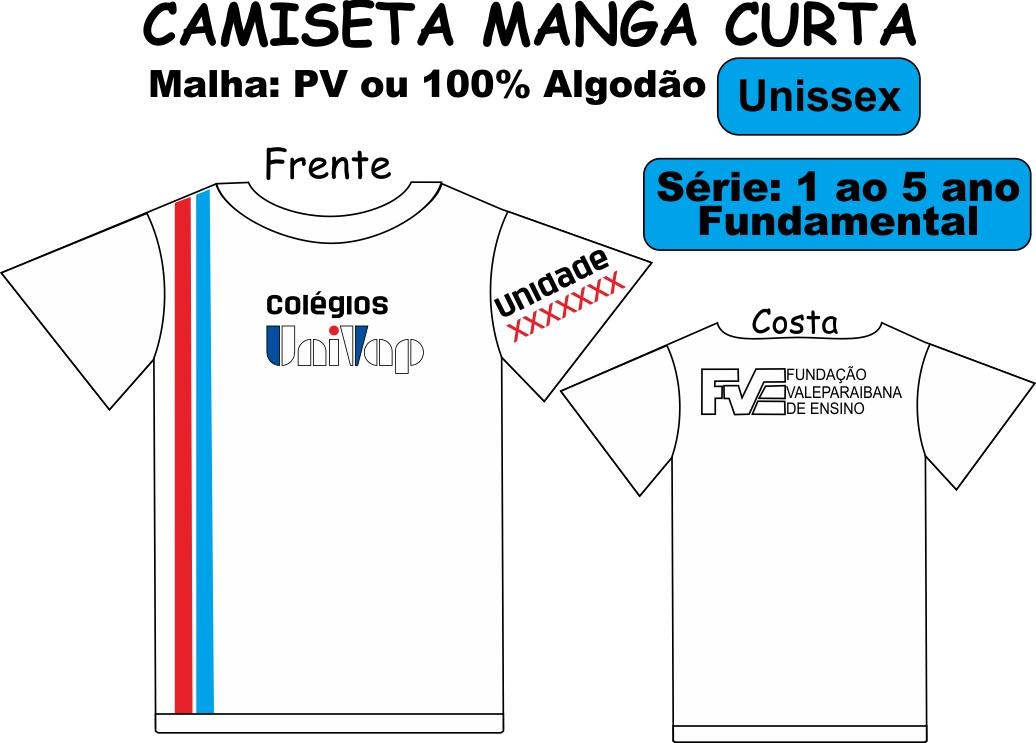 Camiseta Manga Curta Univap 1/5