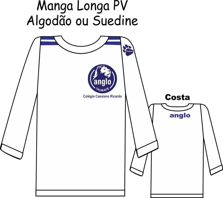 Camiseta Manga Longa Anglo Taubaté