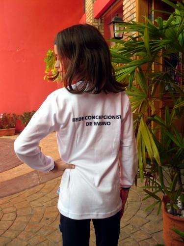Camiseta Manga Longa Branca Rede Concepcionista