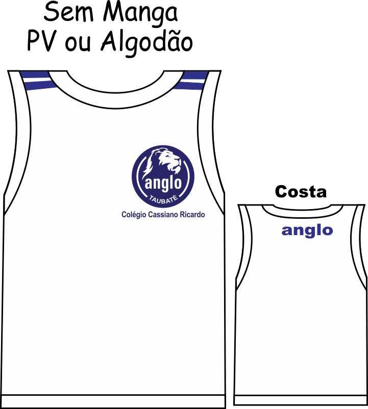 Camiseta Sem Manga Anglo Taubaté