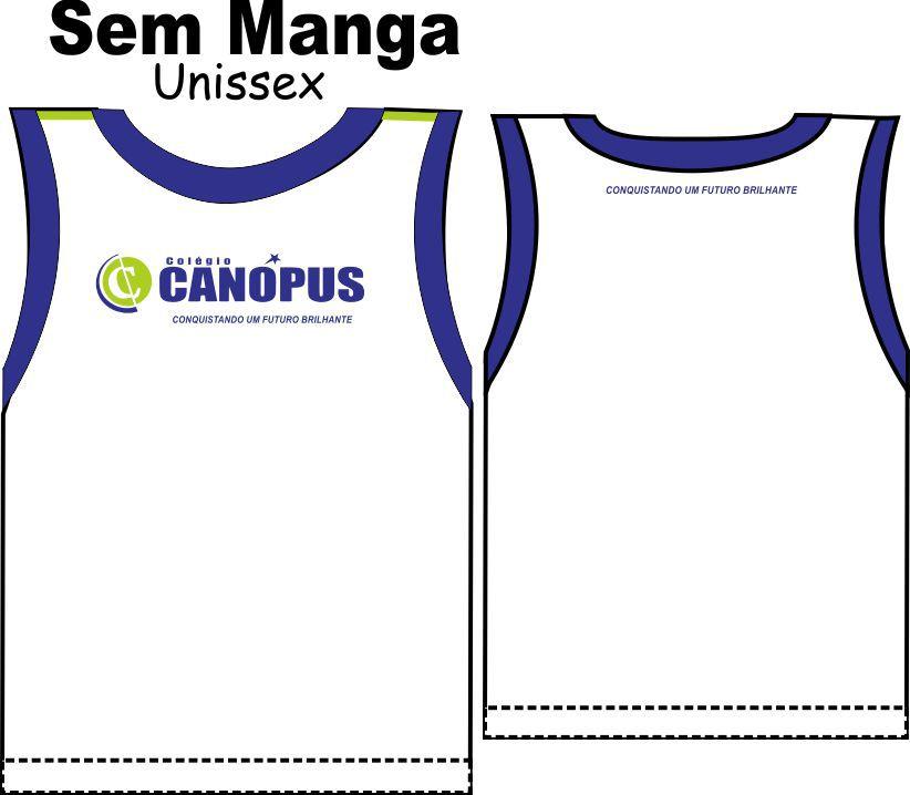 Camiseta Sem Manga Unissex Canópus
