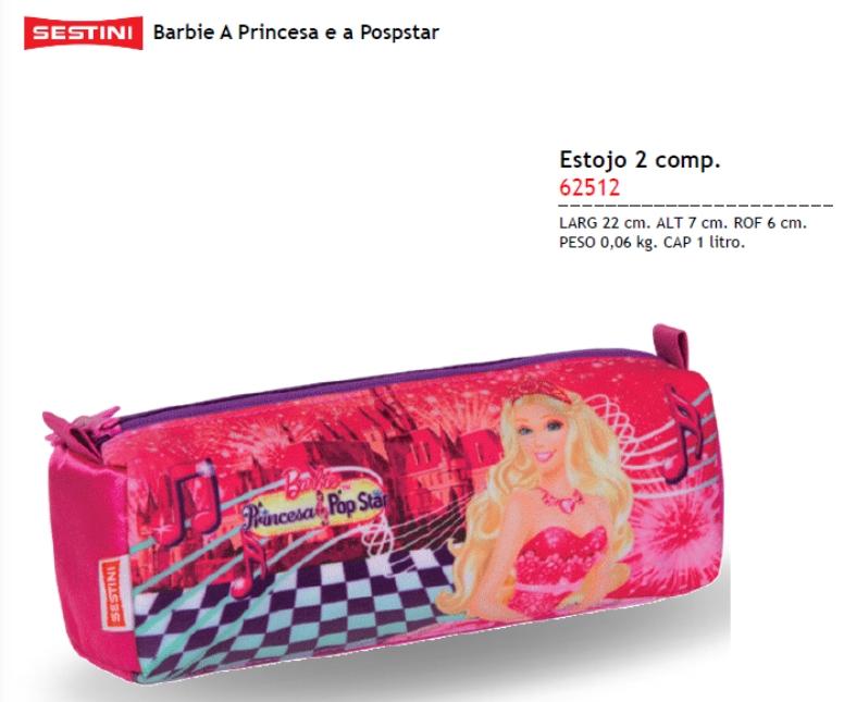 Estojo 2 comp Barbie a Princesa e a Popstar 62512