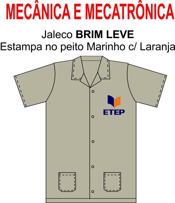Jaleco Caqui Manga Curta ETEP