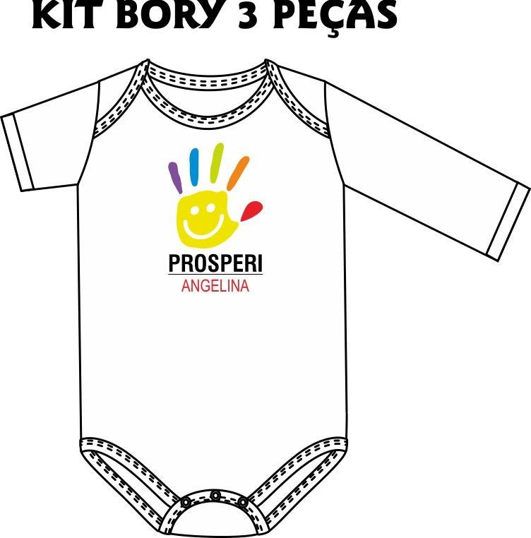 Kit 3 peças Bory Suedine Bebê Prosperi